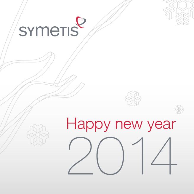 Felicitación Symetis. Anverso