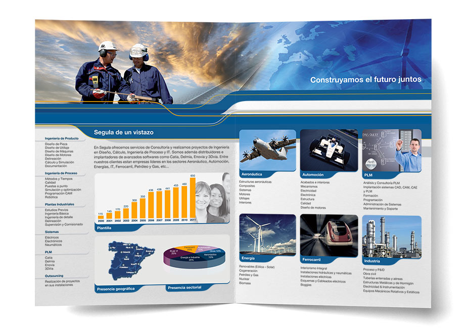 Diseño gráfico folleto Segula