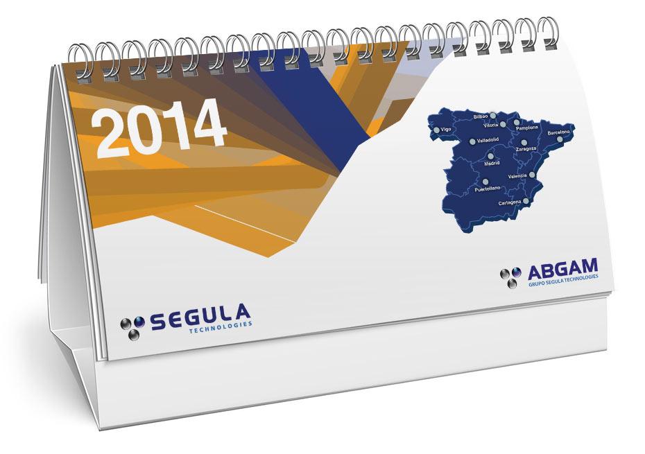 Diseño gráfico calendario Segula
